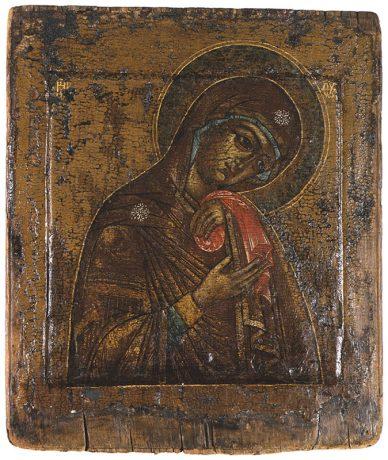 Ikone, Muttergottes des Schmerzes, Russland