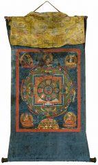Tanka (Rollbild), Mandala des Hevajra, Tibet