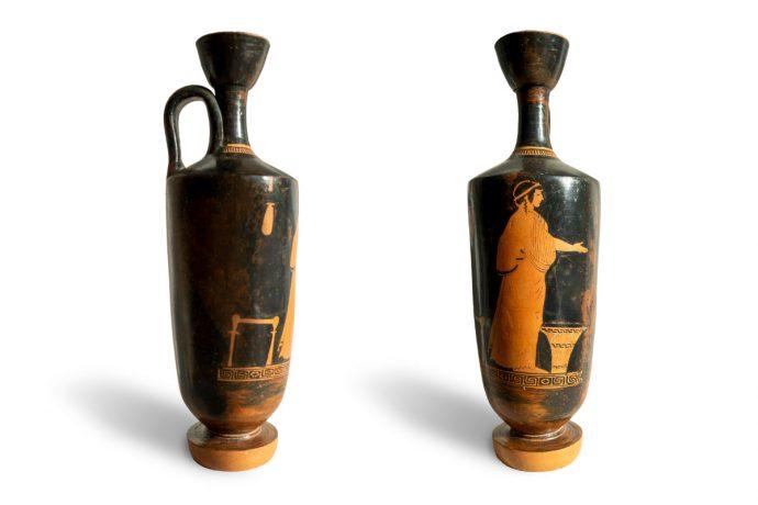 Ölvase, Gr., ca. 470 v. Chr. 2 Ansichten