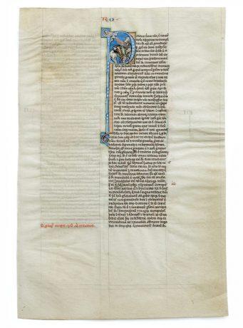 Seite aus einer biblia latina